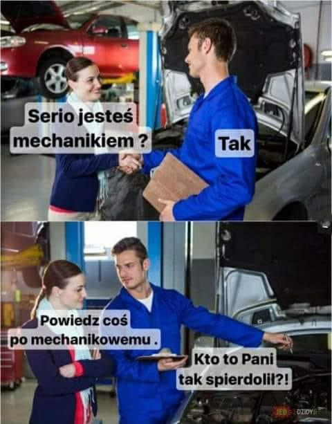 mechanik śmieszne